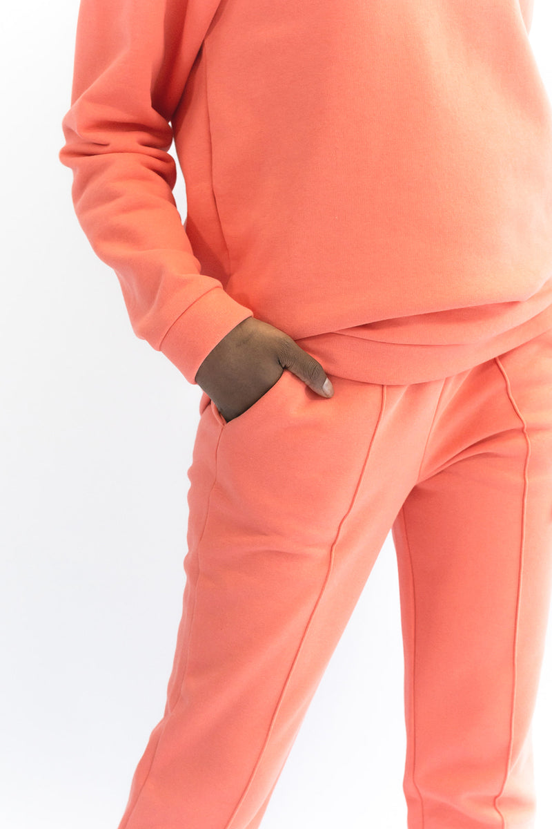 Peachy Coral Sweatpants