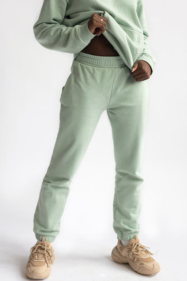 Matcha Green Loose Pants