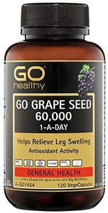 Go Healthy 🍇Grape Seeed 60,000 mg 120 Vege