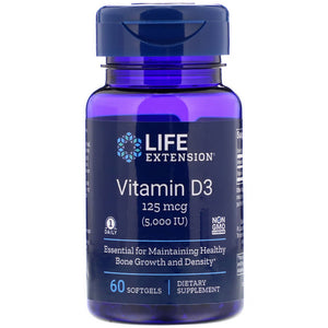 Life Extension Vitamin D3 5000 IU พร้อม Sea-Iodine 60 แคปซูล