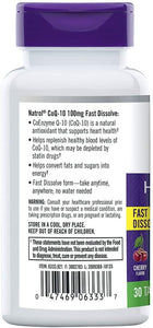 Natrol CoQ-10 100mg Fast Dissolve Tablets, 30-Count