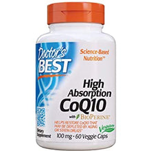 Load image into Gallery viewer, Doctor's Best High Absorption CoQ10 with Bioperine, 100 mg (120 Veggie Caps)