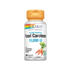 Solaray, Food Carotene, Natural Source, 10,000 IU, 30 Capsules