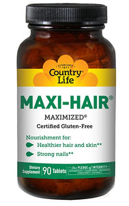 Country Life Maxi Hair 90 Tablets