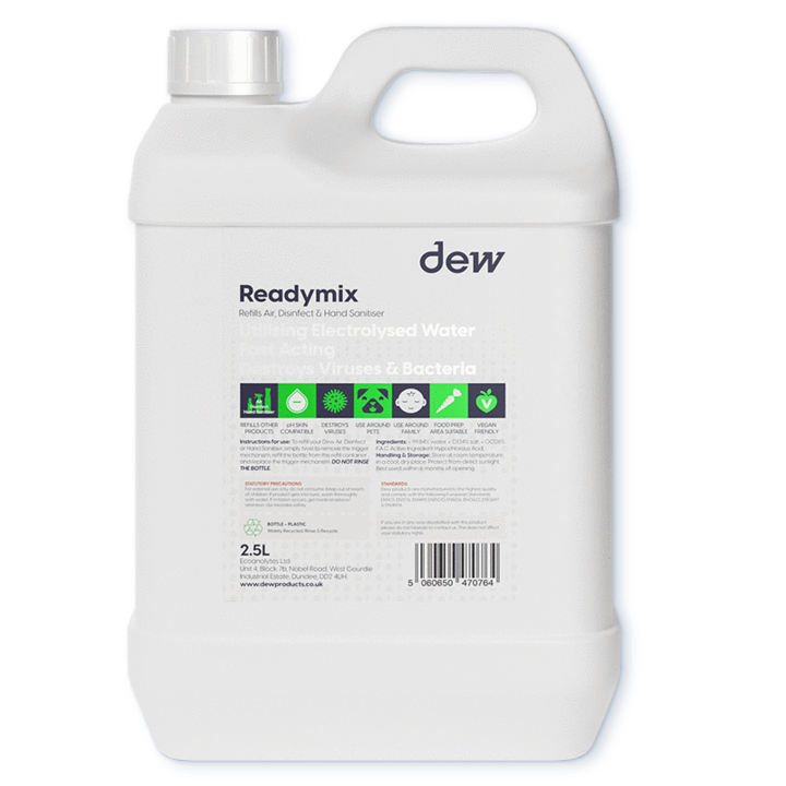 Ready Mix Blue Refill 2.5L (For Sanitising Products)
