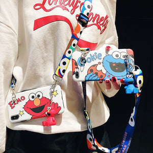 Elmo & Cookie Monster Phone Case With Lanyard - E-flow Online