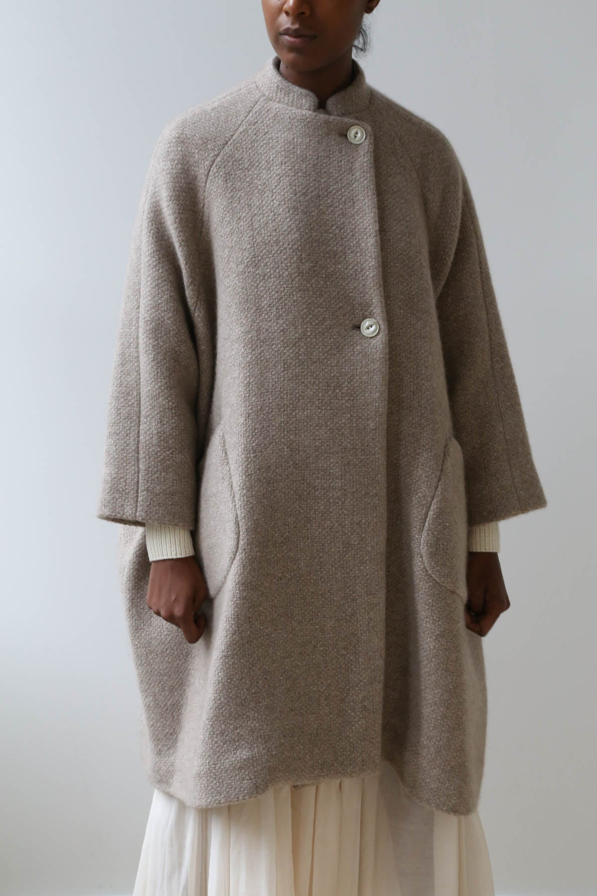 Arts & Science Cashmere Balloon Raglan Coat