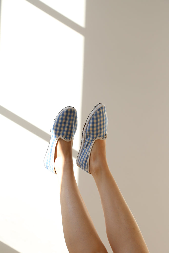 Drogheria Crivellini Heritage Linen Flat in Sky Gingham