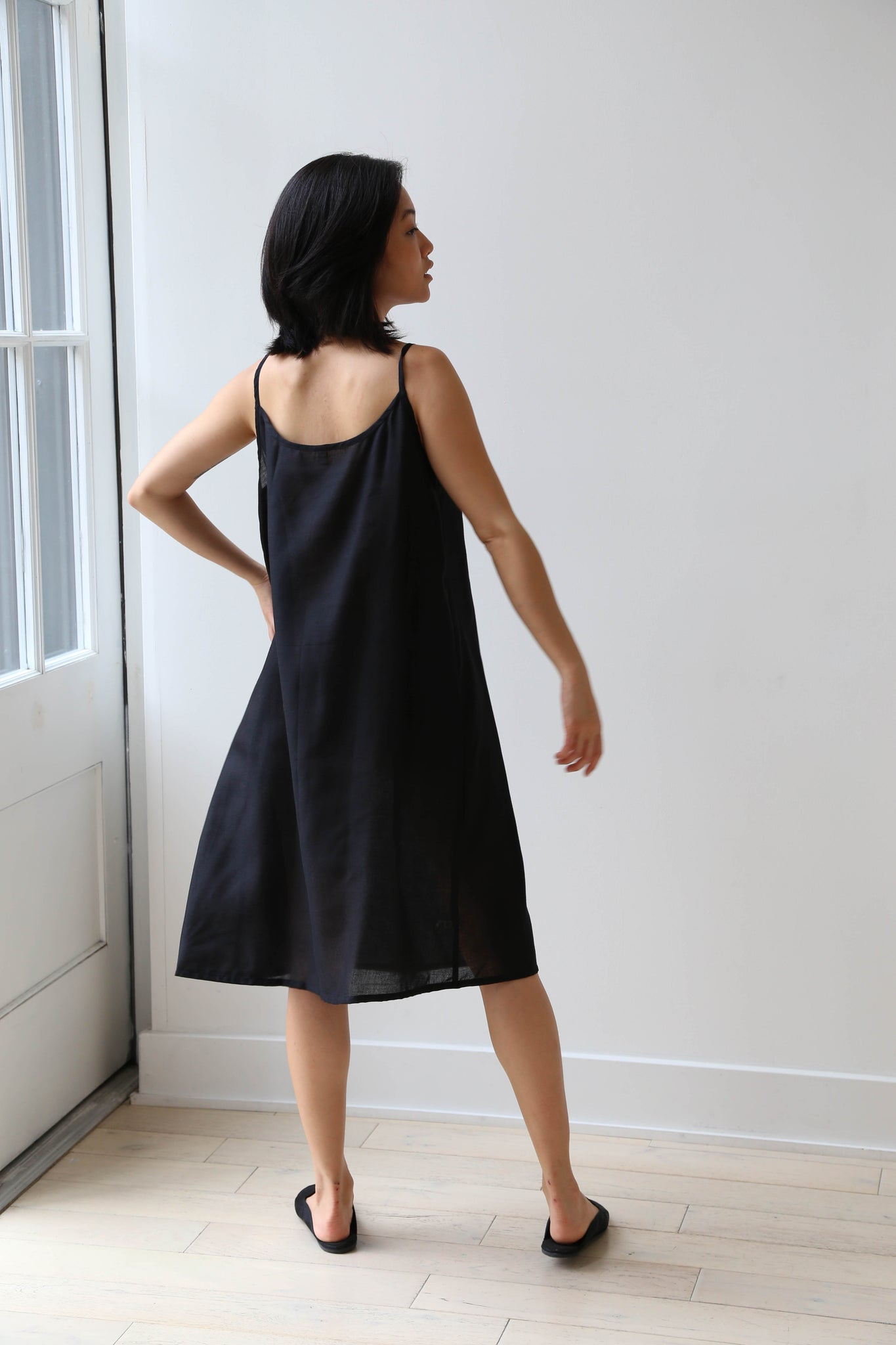 Veritecoeur Black Gather Dress