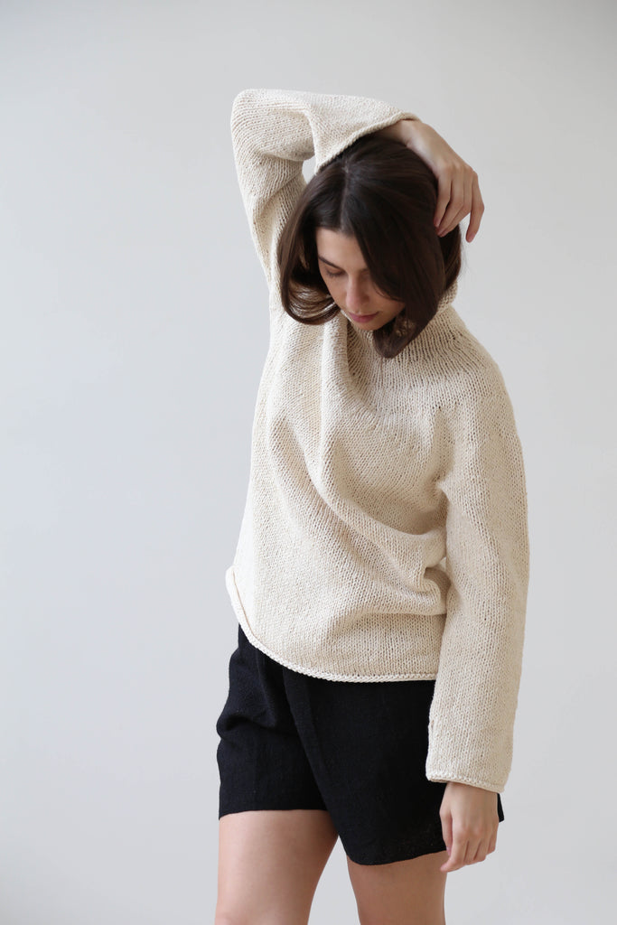 Misha & Puff Popcorn Sweater Rose Gold Wool