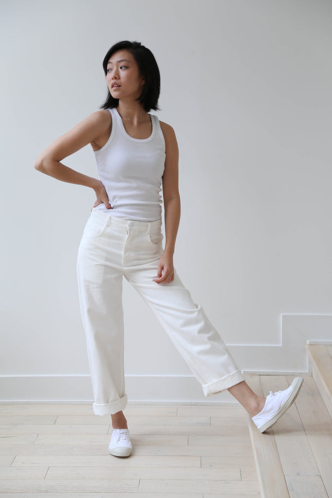 Carleen Relaxed Jeans in White