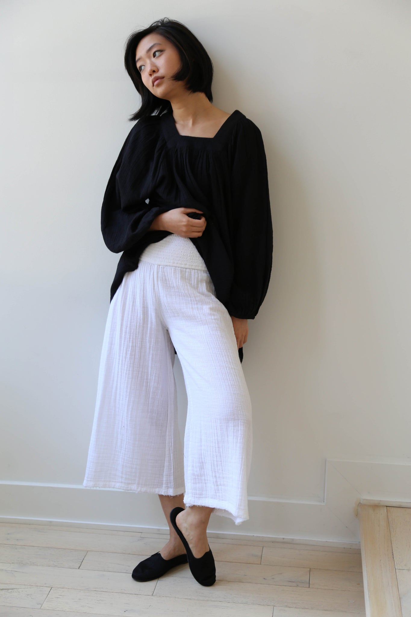 Anaak Maya Culottes in Soft White