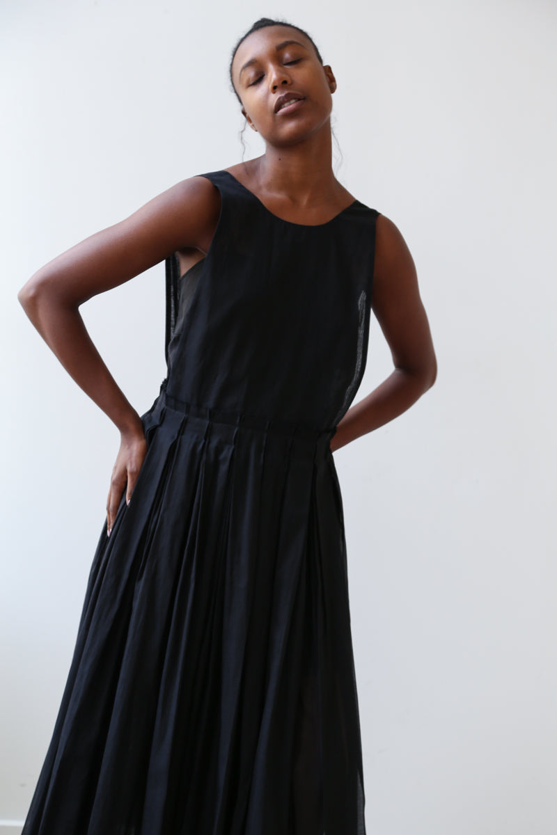 Sara Lanzi Apron Dress in Black