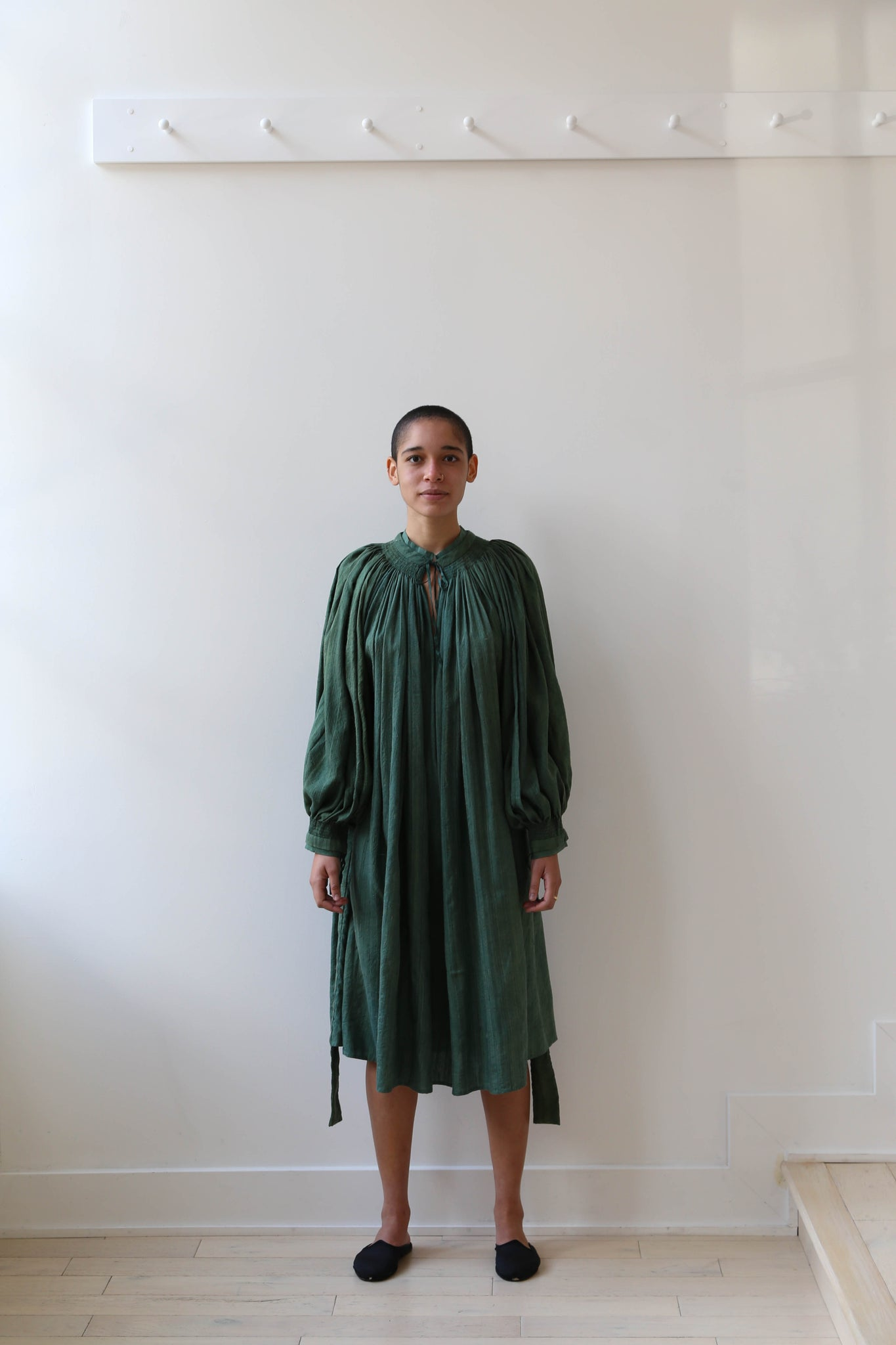 Atelier Bâba Lunetta Dress in Emerald Silk