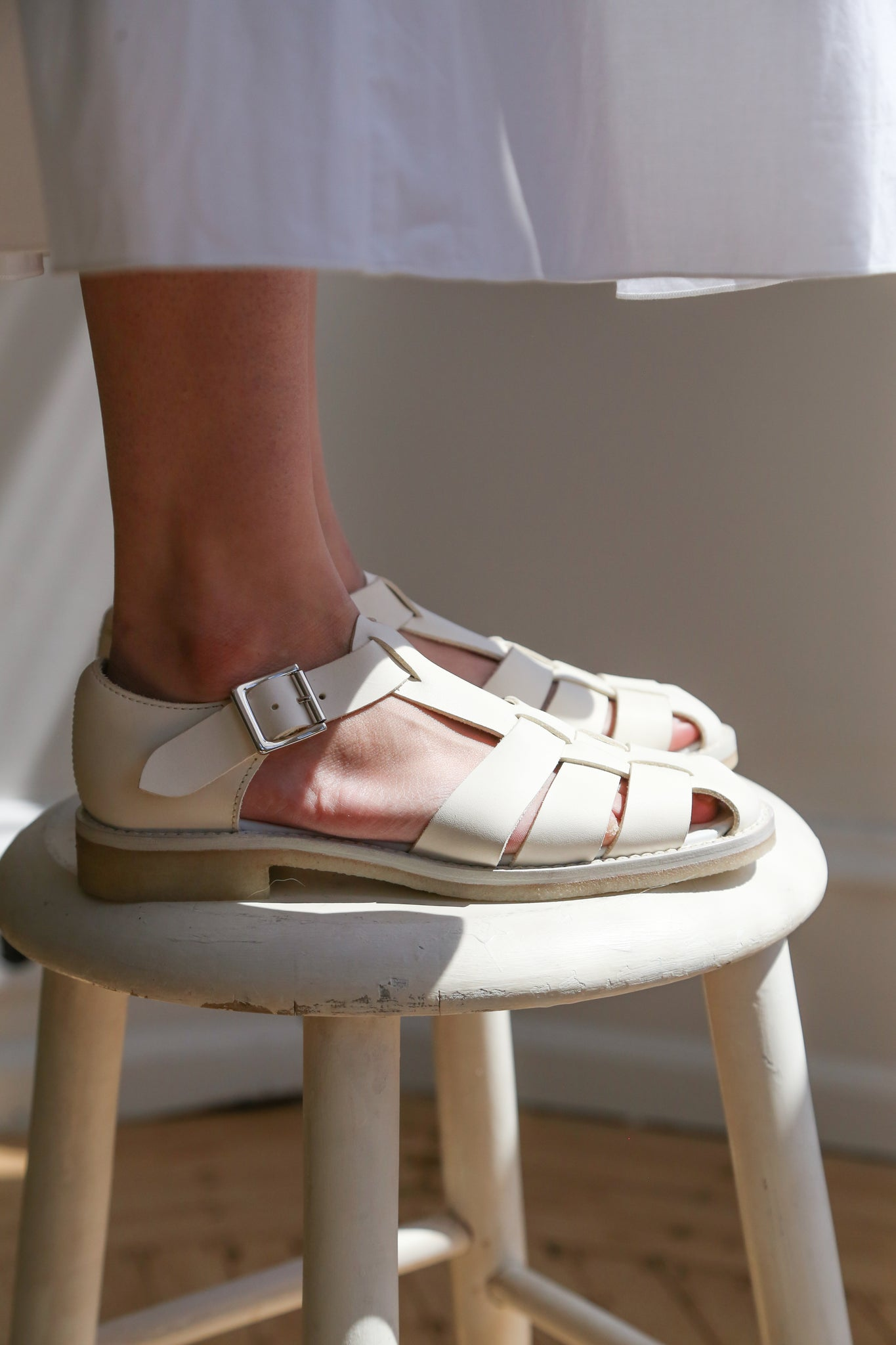 Arts & Science Gurkha Sandal in White