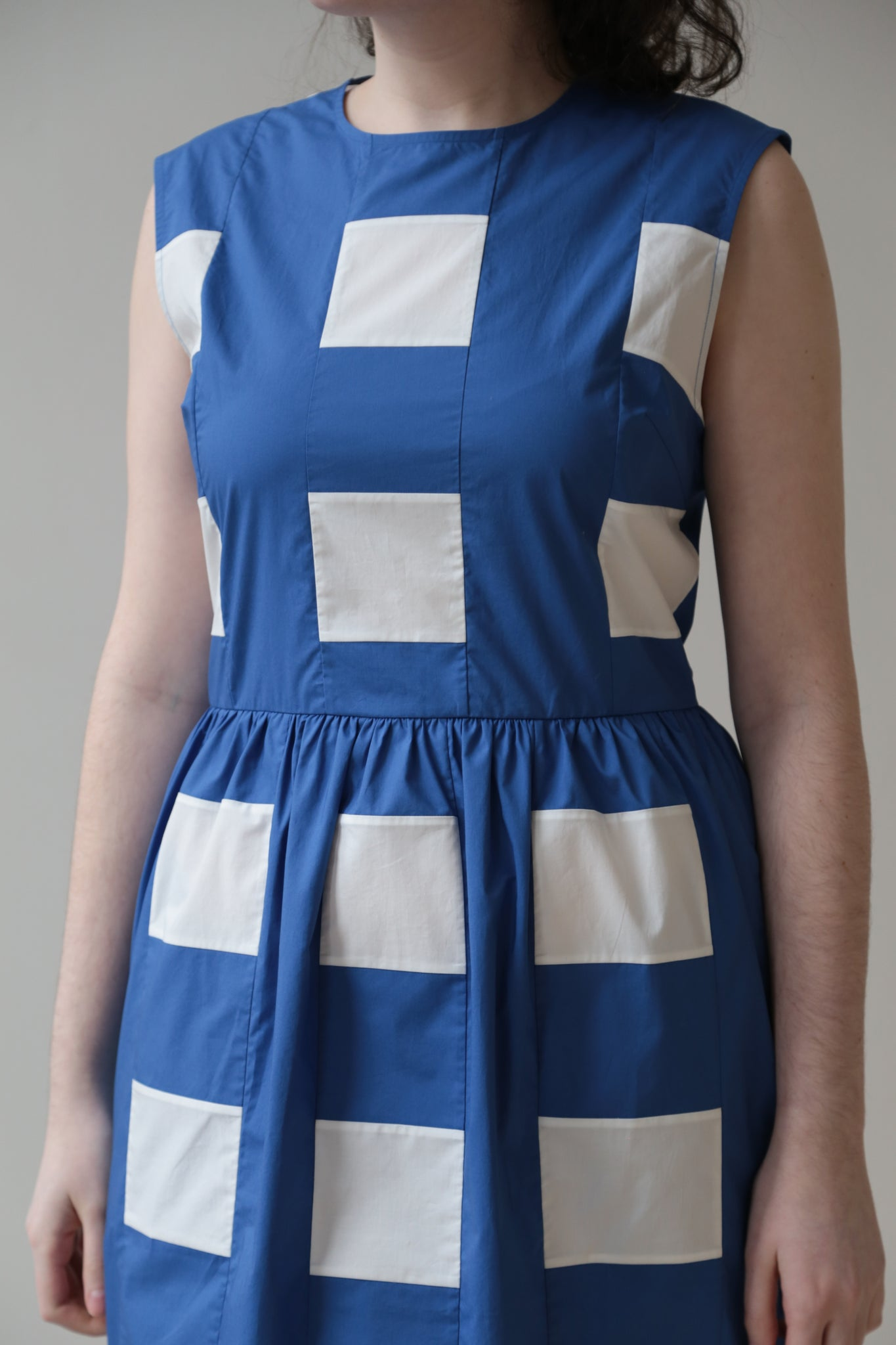 Nina Donis Blue and White Check Dress
