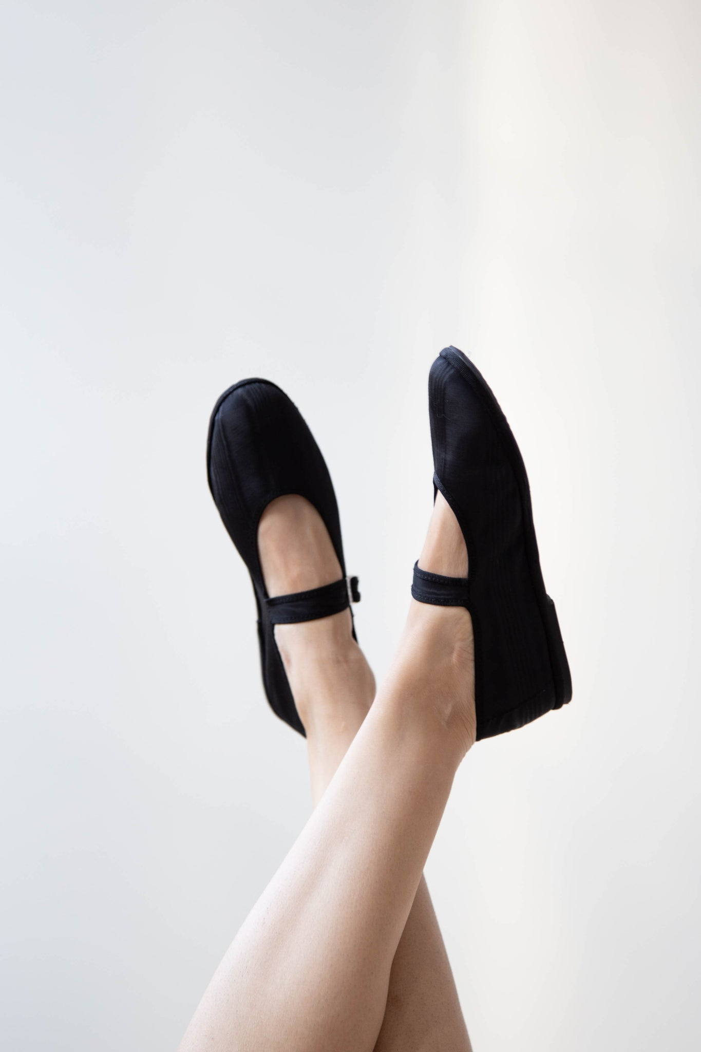 Drogheria Crivellini Mary Janes in Black Moire Silk