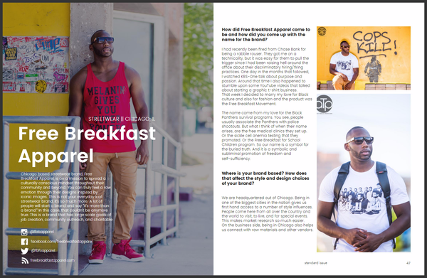 Free Breakfast Apparel Spotlight - R.A.W. Magazine