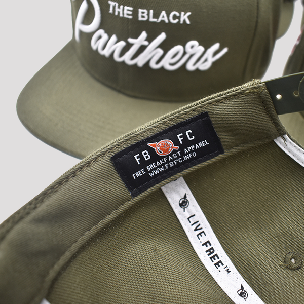 The Black Panthers Snapback - Green Rally Edition - Free Breakfast Apparel