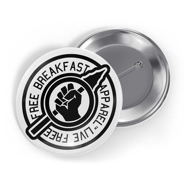 LIVE FREE Button - Free Breakfast Apparel