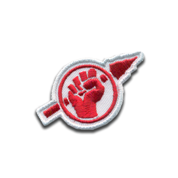 Fist and Spear Embroidered Patch - Free Breakfast Apparel