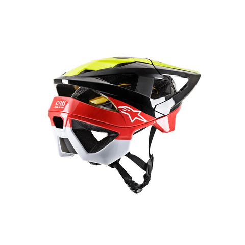 ALPINESTARS VECTOR TECH MIPS HELMET - PILOT BLACK YELLOW FLUO RED GLOSS