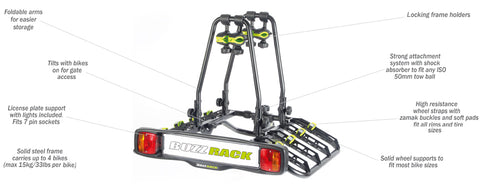 Buzz Rack BuzzQuatro 4 Platform Carrier