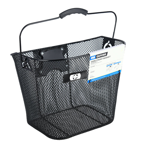 Wire Front Basket Quick Release - Black