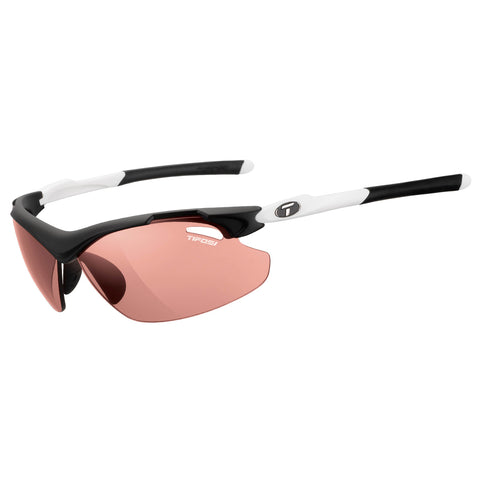 TIFOSI TYRANT 2.0 BLACK/WHITE FOTOTEC HS RED LENS SUNGLASSES