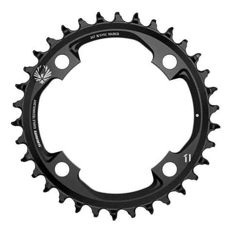 SRAM Chain Ring X-Sync 2 38T 104 Bcd Steel Eagle Black