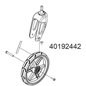 Thule Chariot replacement stroller wheel and caster for Cross or Lite