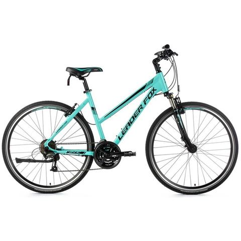 "Leader Fox Viatic City Bike Lady 18"" Turquoise"