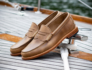 Classic Beefroll Penny Loafers, Made by hand in Maine, USA