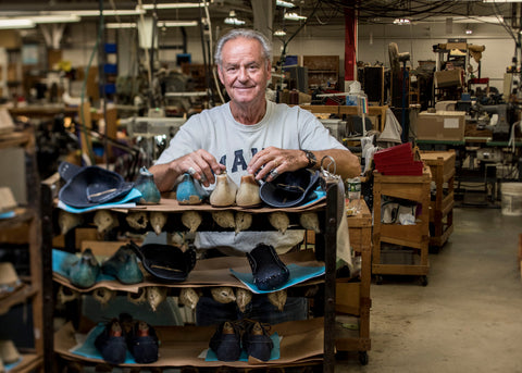 shoemaker with shoes
