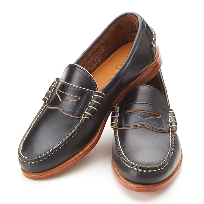 Beefroll Penny Loafers - Black Chromexcel