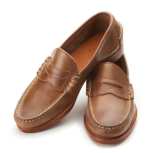 Beefroll Penny Loafers - Natural Chromexcel