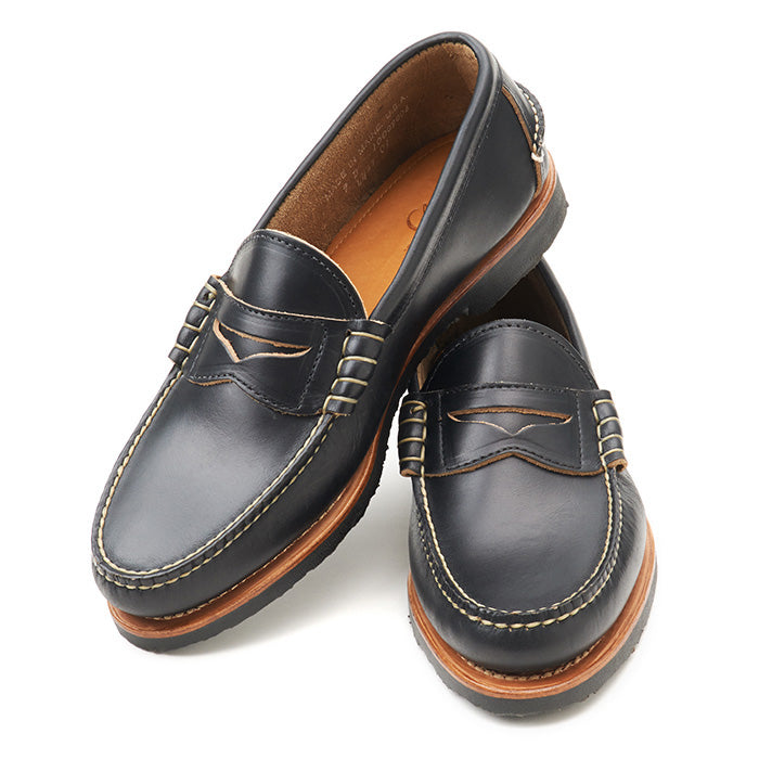 Beefroll Penny Loafers LH - Black Chromexcel