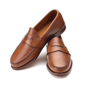 Weltline Penny Loafers - Tan Calf