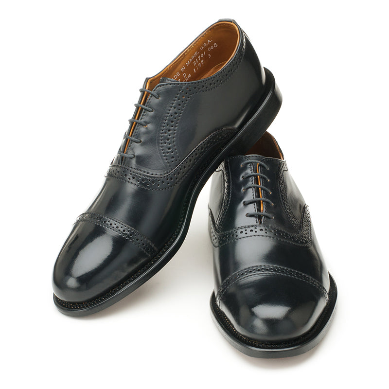 Bartlett Oxford - Black Shell Cordovan