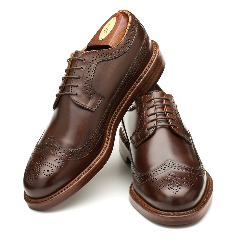 Chandler Longwing - Dark Brown Calf