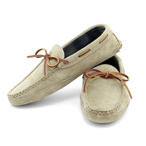 Harrington Slipper - Taupe Suede