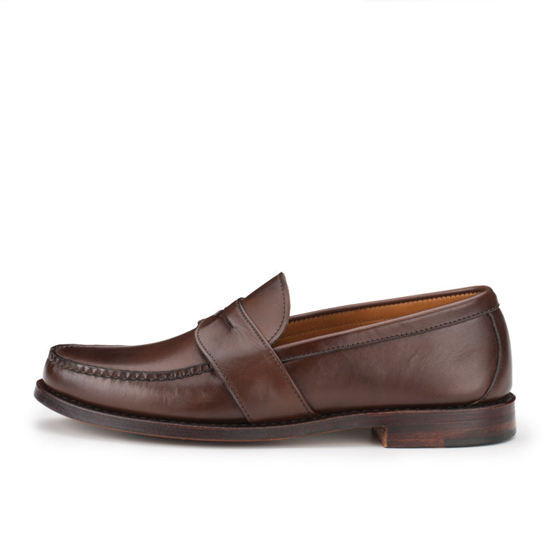 Weltline Penny Loafers - Dark Brown Calf