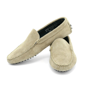 Venetian House Shoe - Taupe Suede