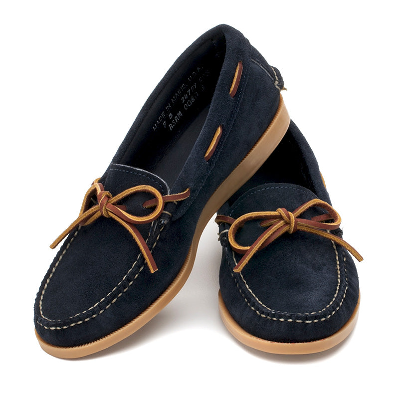 Lily Camp-moc - Navy Suede