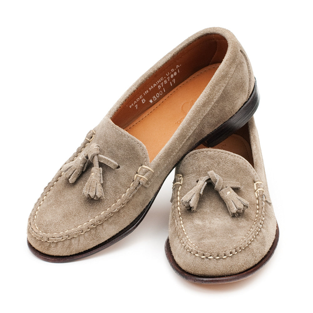 Women's Tassel Loafers - Taupe Suede