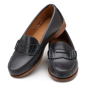 Women's Beefroll Penny Loafers - Black Chromexcel