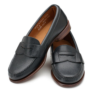 Somerset Penny Loafers - Black Scotch Grain