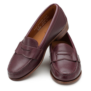 Somerset Penny Loafers - Burgundy Scotch Grain