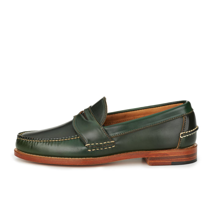 Pinch Penny Loafers - Dark Green Shell Cordovan