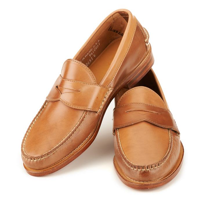 Pinch Penny Loafers - Caramel Shell Cordovan